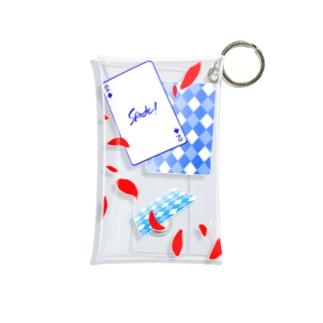 トランプ柄 ver.スペード(1) Mini Clear Multipurpose Case