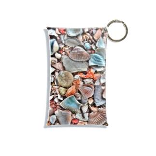 Tabbiesの貝殻ぎっしり Mini Clear Multipurpose Case
