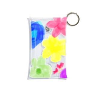 お花柄隠れきゅーとむし Mini Clear Multipurpose Case