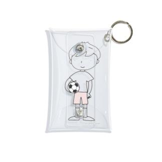 サッカーボールと少年(3) Mini Clear Multipurpose Case
