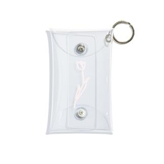 淡色線画チューリップ Mini Clear Multipurpose Case