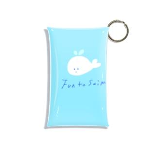 白いクジラ Mini Clear Multipurpose Case