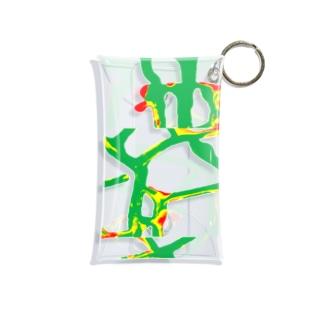 ホットグリーン Mini Clear Multipurpose Case