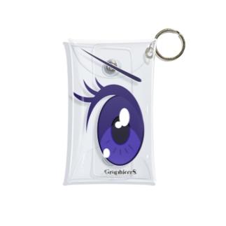 Cartoon Eye Mini Clear Multipurpose Case