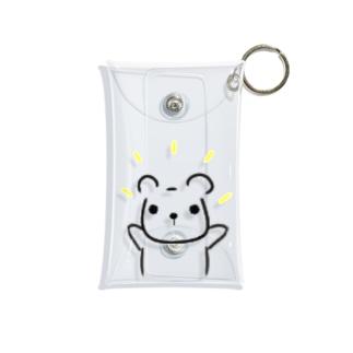 ramu-chanのくまちゃん Mini Clear Multipurpose Case