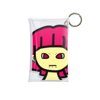 ピンク髪女の子 Mini Clear Multipurpose Case