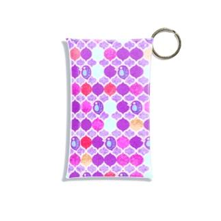 ミジンコ×モロッカン_紫 Mini Clear Multipurpose Case