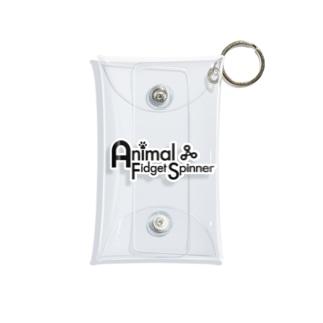 Animal Fidget Spinner ロゴ Mini Clear Multipurpose Case