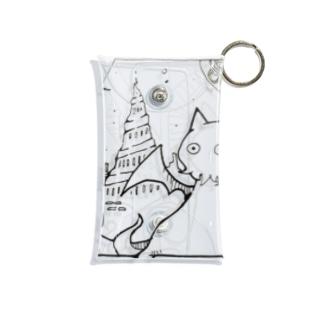 冒涜的な猫ルフ(色なし) Mini Clear Multipurpose Case
