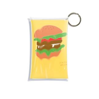 時空の歪み系ハンバーガー Mini Clear Multipurpose Case