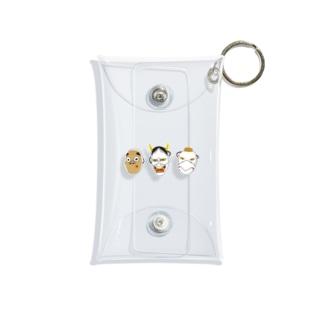 日本のお面 Mini Clear Multipurpose Case