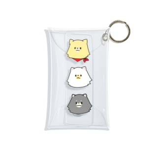 3ポメ ケース Mini Clear Multipurpose Case