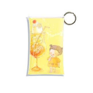 朝焼けクリームソーダ Mini Clear Multipurpose Case