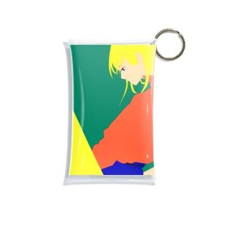 金髪の女の子 Mini Clear Multipurpose Case
