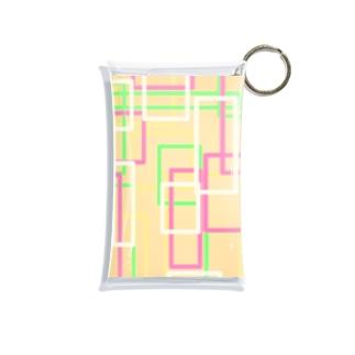 オレンジ四角隊 Mini Clear Multipurpose Case