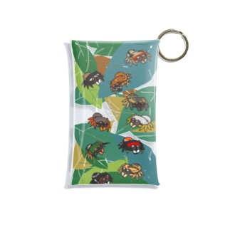 葉っぱの上のまんまるハエトリグモ Mini Clear Multipurpose Case