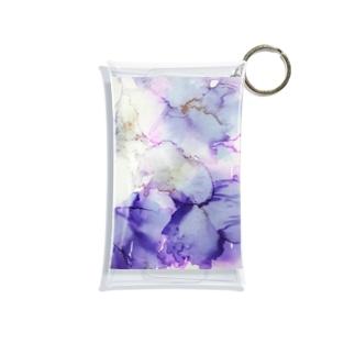 紫の花 Mini Clear Multipurpose Case