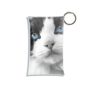 Mimi-blue eyes  Mini Clear Multipurpose Case