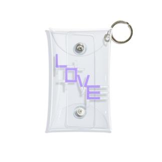 アクスタケース ペンライトLOVE light purple Mini Clear Multipurpose Case