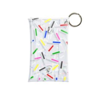 アクスタケース ペンライト ランダム6colors★ yellow /pink/blue/black /red /green Mini Clear Multipurpose Case