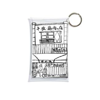 精肉店モノクロ Mini Clear Multipurpose Case
