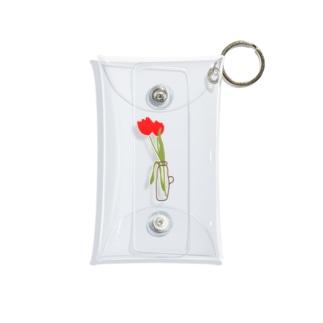 花瓶と花 Mini Clear Multipurpose Case