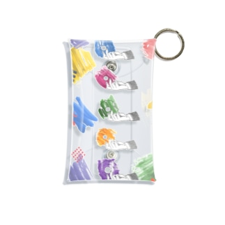 colorful donuts Mini Clear Multipurpose Case