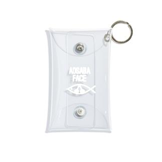 アオサバフェイスホワイト Mini Clear Multipurpose Case