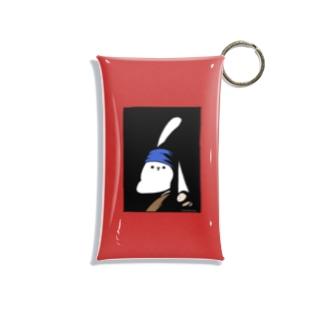 真珠の耳飾りのうさぎ 赤 Mini Clear Multipurpose Case