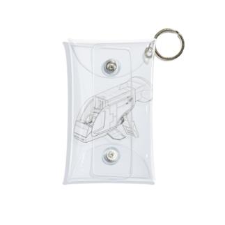 GUPPY(白黒) Mini Clear Multipurpose Case