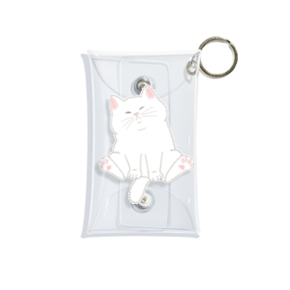 もっちり猫 Mini Clear Multipurpose Case