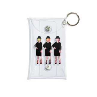 三人の女の子 Mini Clear Multipurpose Case