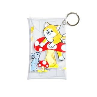 秋!きのこ狩り🍄秋田犬とウサギは友達❤️ Mini Clear Multipurpose Case