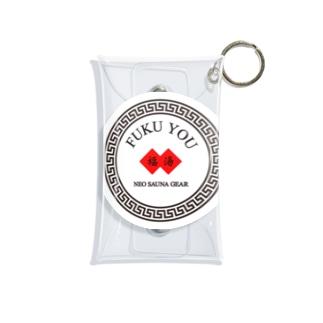 FUKU YOU(福湯)サークルロゴ Mini Clear Multipurpose Case