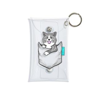 秋田犬がポケットイン!虎 Mini Clear Multipurpose Case