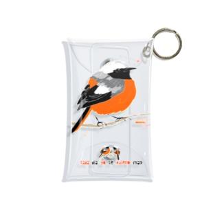 MARU ジョビ丸(大)まるい小鳥 まる過ぎる ジョウビタキ Mini Clear Multipurpose Case