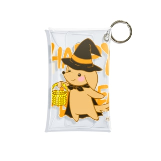 ハロウィン わんこ Mini Clear Multipurpose Case