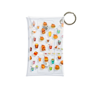 Fast food menu Mini Clear Multipurpose Case