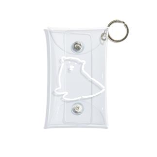 シロクマがこちらを見てる Mini Clear Multipurpose Case