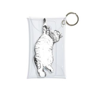 猫踊り...? Mini Clear Multipurpose Case