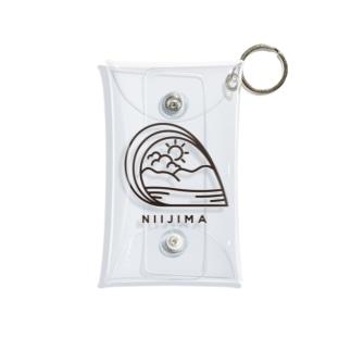 新島観光協会公式ロゴ Mini Clear Multipurpose Case