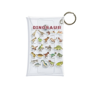 ちょっとゆるい恐竜図鑑 Mini Clear Multipurpose Case