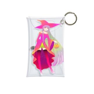 チェーンソーをこっそり持った魔女 Mini Clear Multipurpose Case