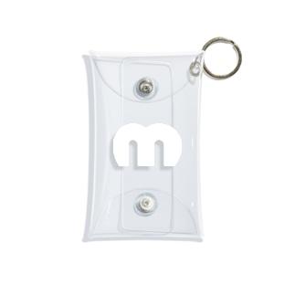 Mechuロゴ(白) Mini Clear Multipurpose Case