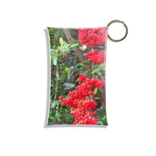赤い実 Mini Clear Multipurpose Case