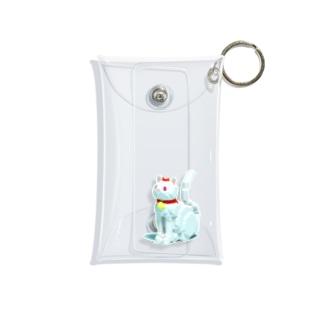 赤リボンの猫 Mini Clear Multipurpose Case
