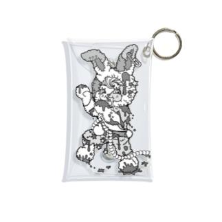 うさぎのラビ★スリラーハロウィン-ゾンビ-モノクロ Mini Clear Multipurpose Case