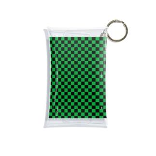 日本:市松模様緑 Mini Clear Multipurpose Case