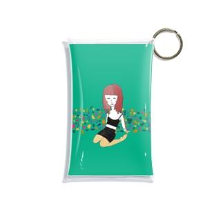 緑の女の子 Mini Clear Multipurpose Case