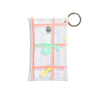 レトロチェック Mini Clear Multipurpose Case